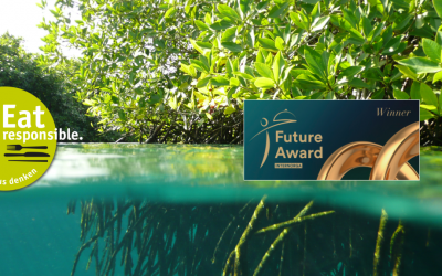 INTERNORGA Future Award for our key project:  Yuu'n Mee Black Tiger prawns from mangrove-forest-farms